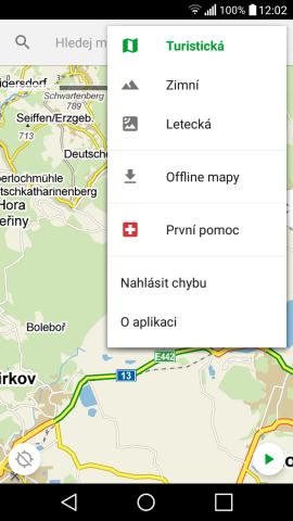 Mapy.cz – nejlepší turistické offline mapy do mobilu zdarma