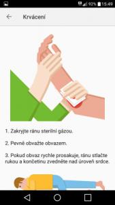 mapy.cz první pomoc