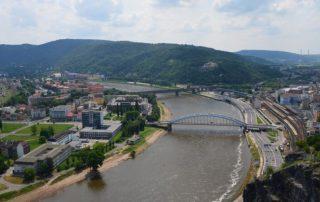 Ústí nad Labem z Mariánské skály