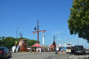 Město Kolobřeh Polsko - nábřeží