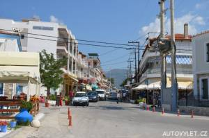 Město Limenaria Thassos Řecko