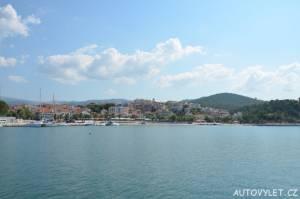 Město Limenaria Thassos Řecko 2