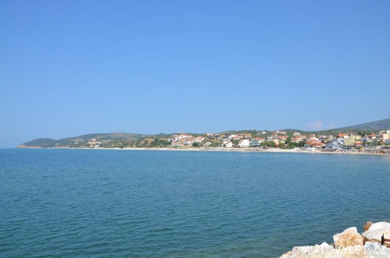 Město Limenaria Thassos Řecko 3