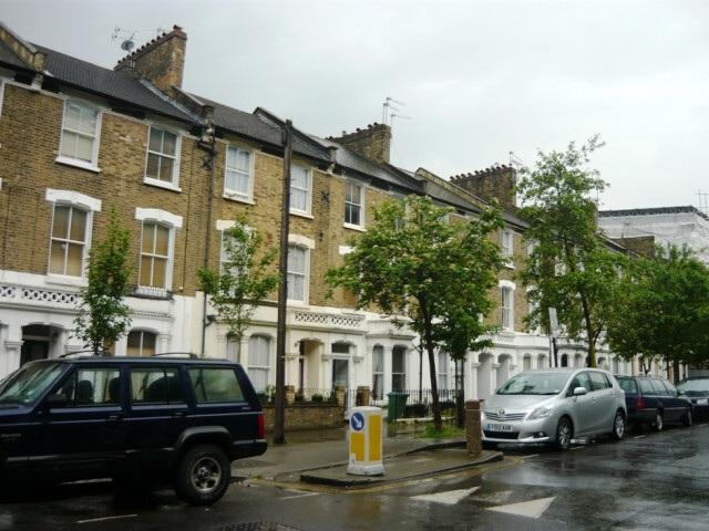 Město Londýn v Anglii v dešti