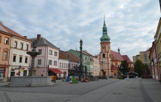 Město Sokolov - staré náměstí