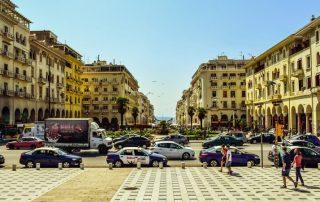Město Soluň Řecko