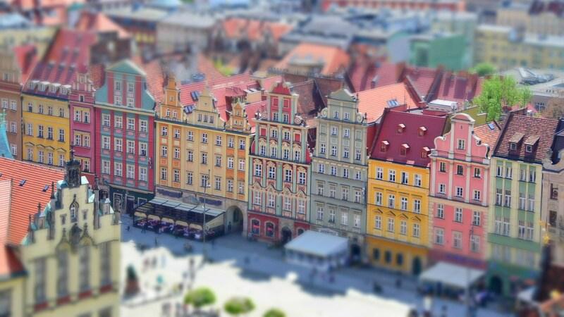 Město Wroclaw Polsko