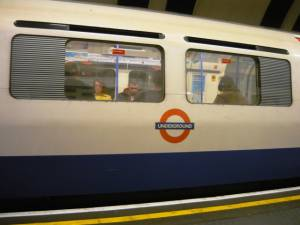 Metro v Londýně v Anglii
