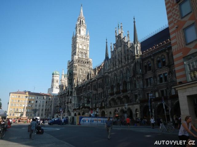 Mnichov radnice Marienplatz