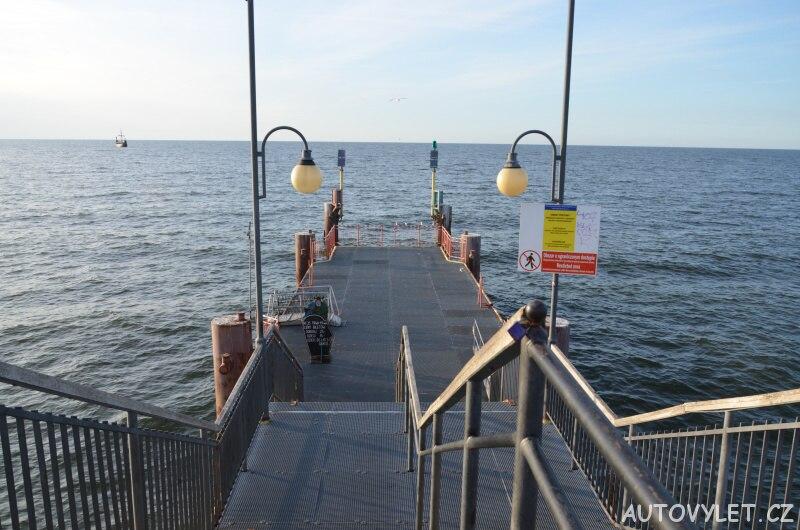 Molo Miedzyzdroje Polsko - odtud jezdí lodě na výlet