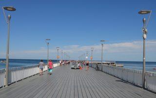 Molo v Kolobřehu v Polsku