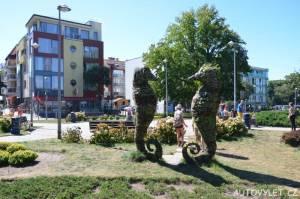 Mořský koník socha - Kolobřeh Polsko