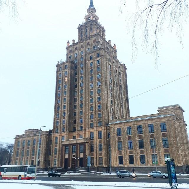 Mrakodrap lotyšská akademie věd - Riga