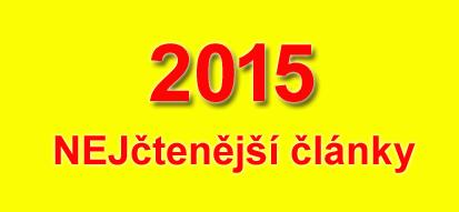 Nejčtenější články 2015 Autovylet.cz