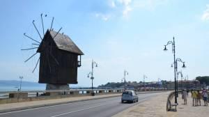 nesebar bulharsko - větrný mlýn