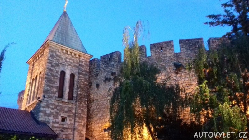 Noční pevnost nad Bělehradem