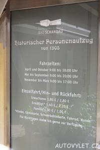 Otevírací doba Historický výtah Bad Schandau Německo