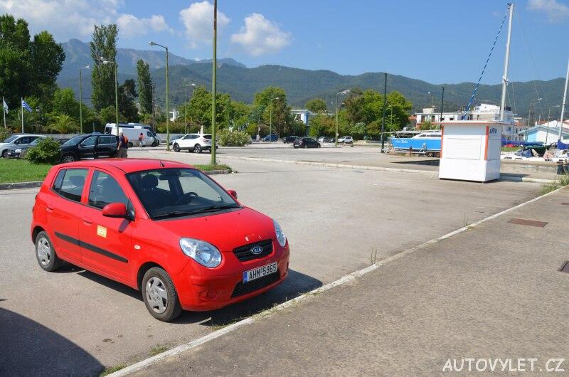 Parkoviště Limenas - hlavní město Thassos Řecko