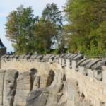 Pevnost Königstein v Saském Švýcarsku v Německu