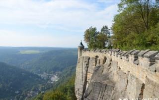 pevnost konigstein saské švycarsko německo