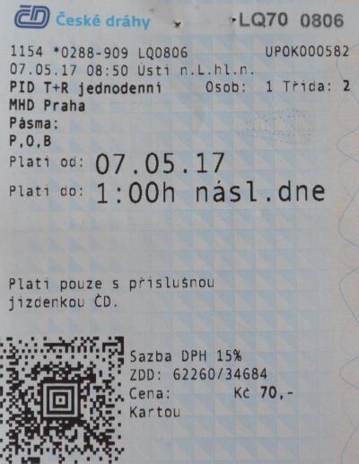 PID T R jednodenní MHD Praha