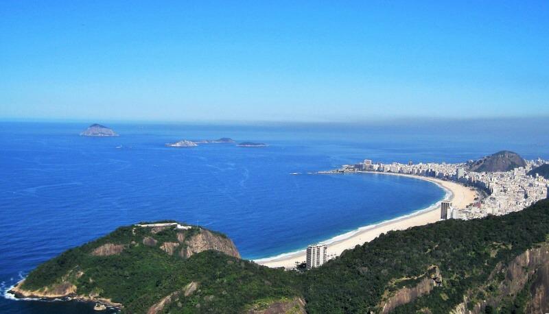 Pláž Copacabana Rio de Janeiro Brazílie