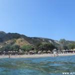 Pláž Dafni z moře