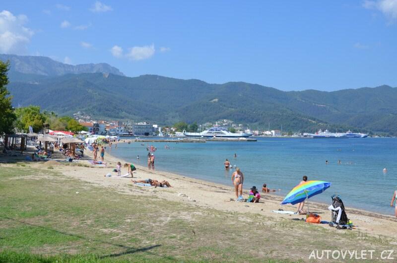 Pláž - město Limenas Thassos Řecko