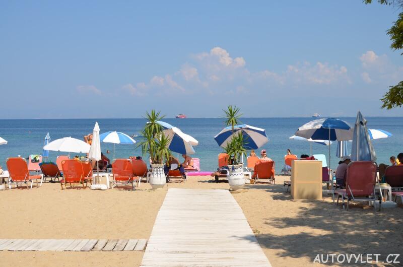 Pláž - město Limenas Thassos Řecko 2