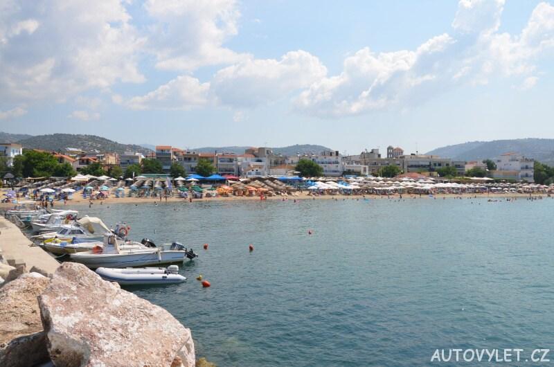 Pláž - Město Potos Thassos Řecko