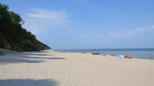 Pláž Miedzywodzie Polsko