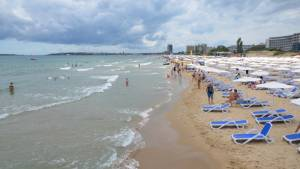 Pláž moře Slunečné pobřeží Sunny beach Bulharsko