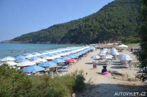 Pláž Paradise beach Thassos Řecko