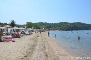 Pláž Potos Thassos Řecko 2