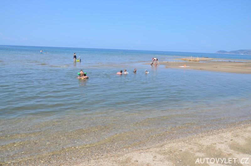 Pláž Potos Thassos Řecko 3