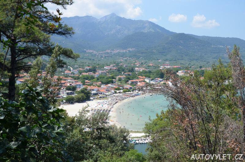 Pláž Thassos Řecko