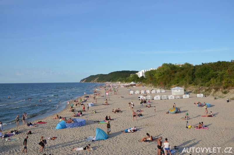 Pláž v Mezizdrojích v Polsku