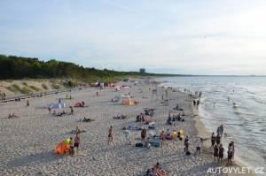 Pláž v Mezizdrojích v Polsku 2