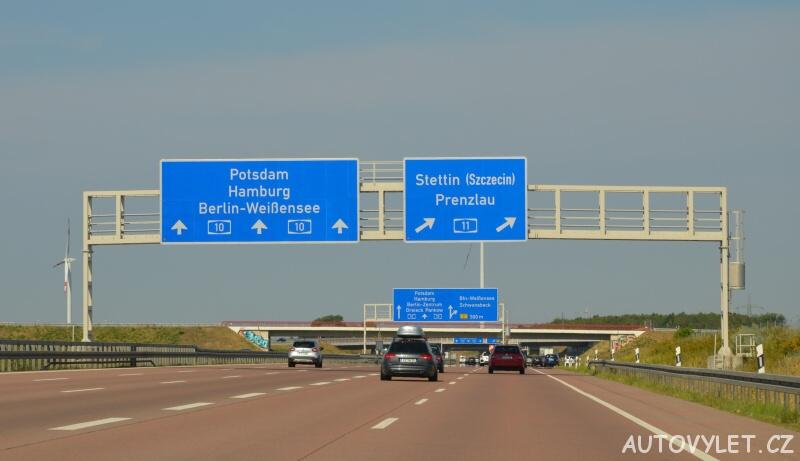 Po dálnici směr Štětín - Polsko