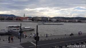 Pohled na Dunaj v Budapešti