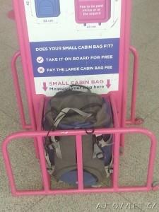 příruční zavazadlo do letadla rozměry ryanair