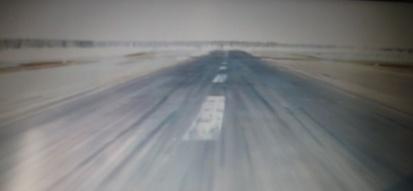 Přistání letadla v Moskvě
