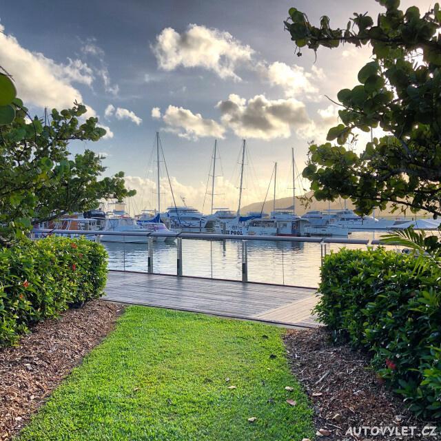 Přístav - město Cairns v Austrálii