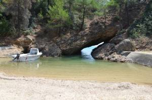Průplav do moře - Limenaria Thassos Řecko