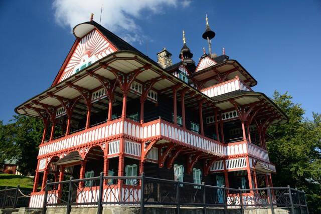 Pustevny dřevěný dům