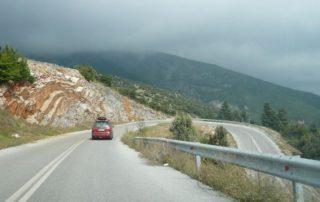 řecko autem