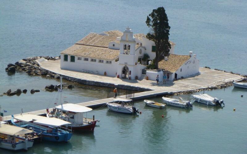 řecko korfu kostel