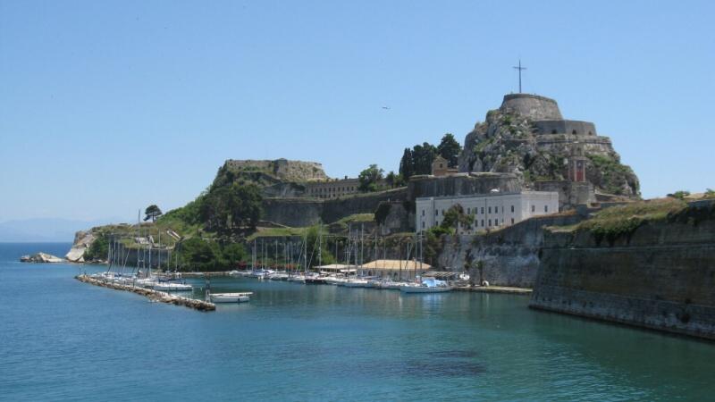 řecko korfu kerkyra pevnost