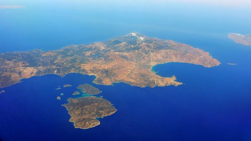 řecko kréta moře z letadla