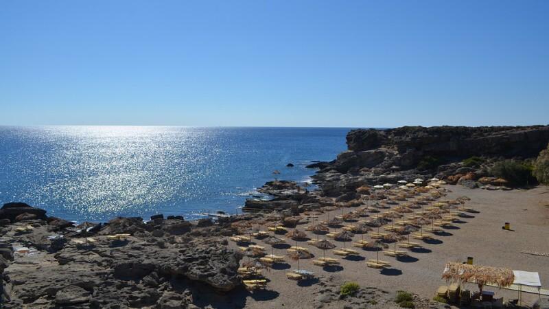 řecko rhodos pláž